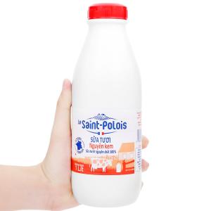 Sữa tươi nguyên kem Le Saint Polois chai 1 lít