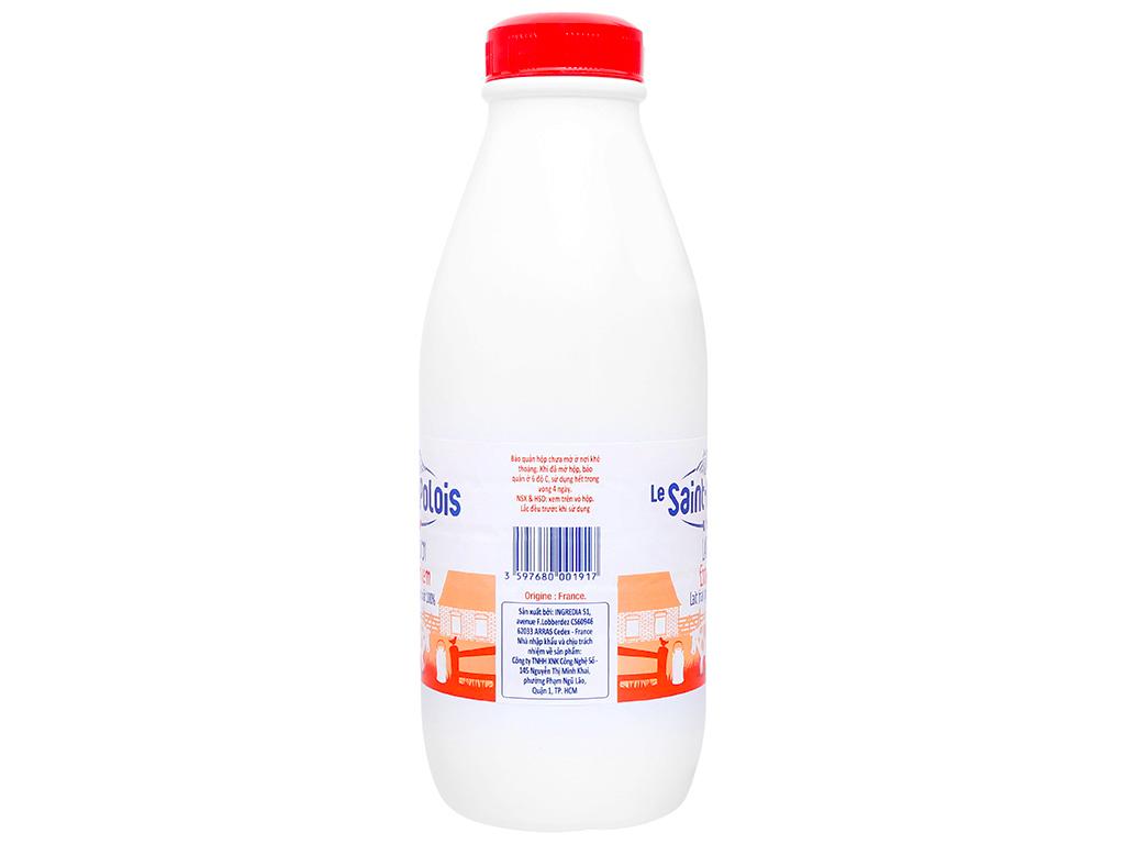 Sữa tươi nguyên kem không đường Le Saint Polois chai 1 lít 2
