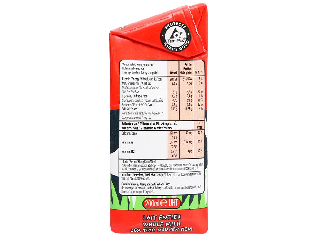 Lốc 3 hộp sữa tươi nguyên kem không đường Inex 200ml 3