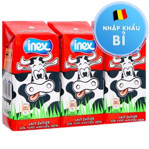 Lốc 3 hộp sữa tươi nguyên kem không đường Inex 200ml