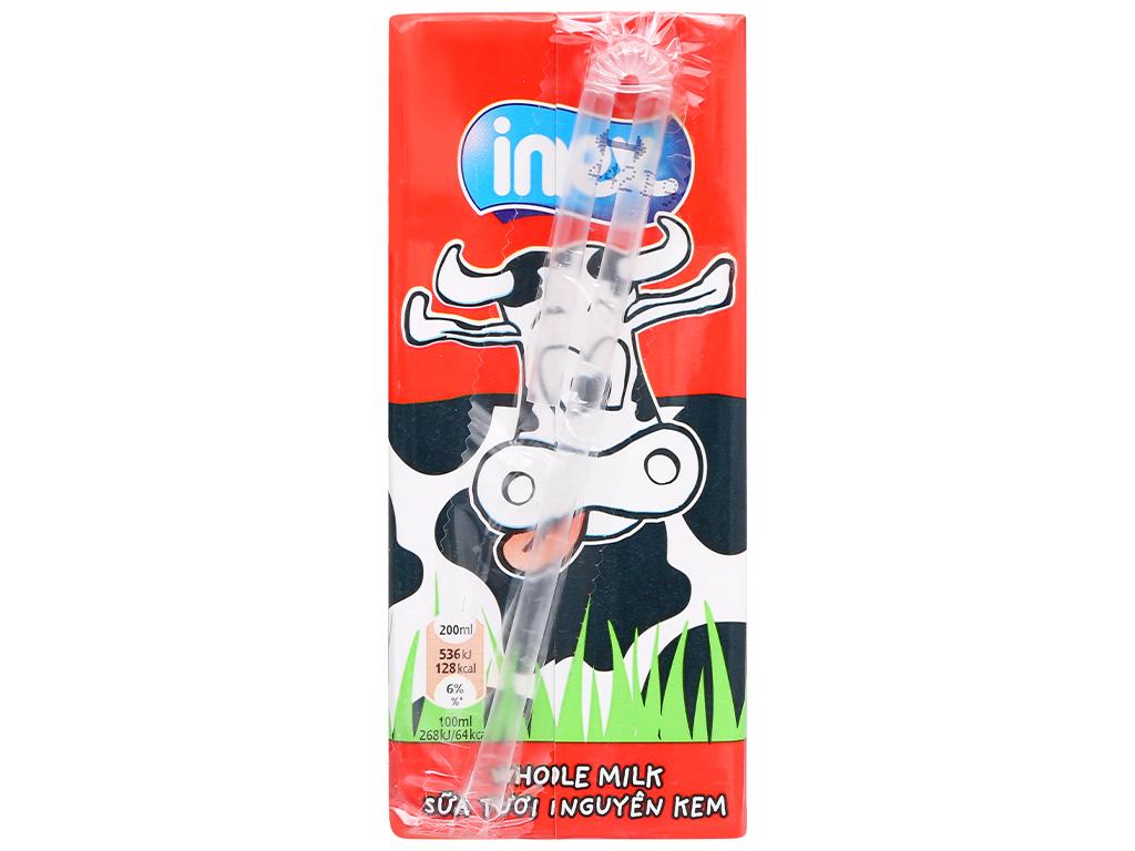 Thùng 24 hộp sữa tươi nguyên kem không đường Inex 200ml 3