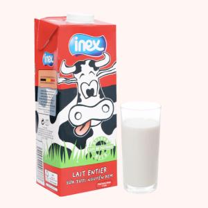 Sữa tươi nguyên kem không đường Inex hộp 1 lít
