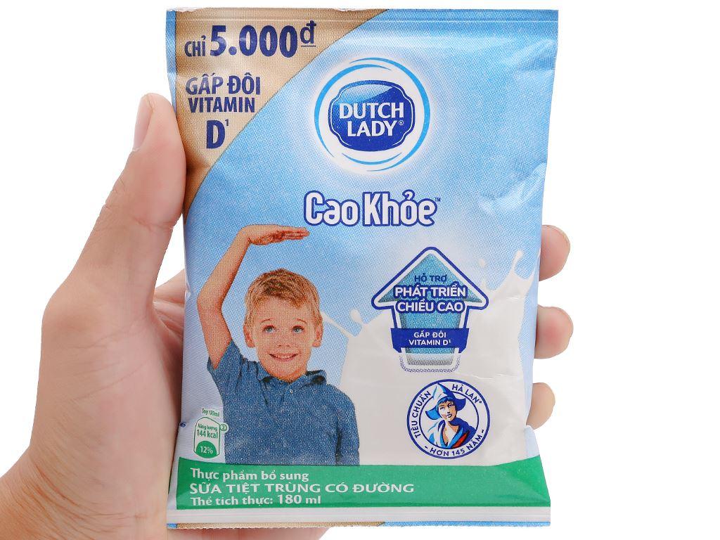 Sữa tiệt trùng có đường Dutch Lady Cao khoẻ bịch 180ml 5