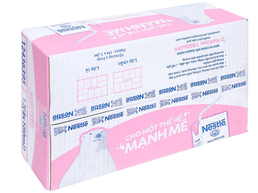 Thùng 48 hộp sữa tiệt trùng hương dâu trắng Nestlé NutriStrong 180ml 1