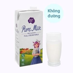 Sữa tươi nguyên kem không đường Pure Milk hộp 1 lít