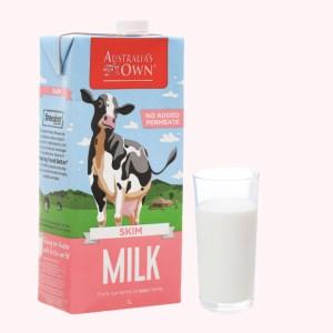 Sữa tươi tách béo không đường Australia's Own hộp 1 lít
