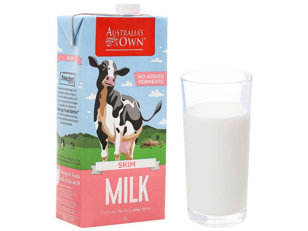 Thùng 12 hộp sữa tươi tách béo không đường Australia's Own 1 lít 2