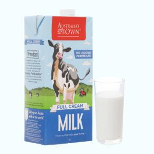 Sữa tươi nguyên kem không đường Australia's Own hộp 1 lít