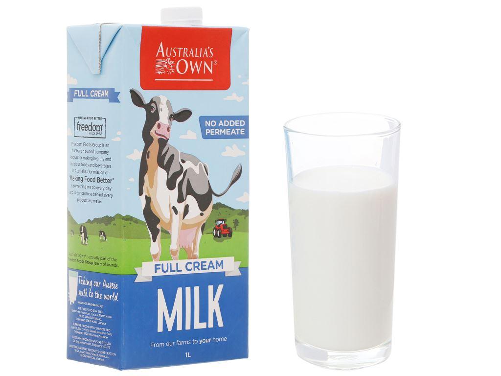 Thùng 12 hộp sữa tươi nguyên kem không đường Australia's Own 1 lít 2
