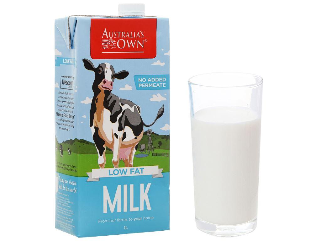 Sữa tươi ít béo Australia's Own hộp 1 lít 1