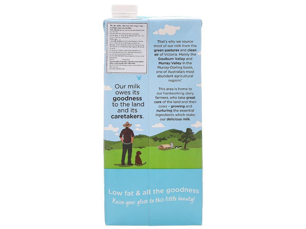 Sữa tươi ít béo Australia's Own hộp 1 lít 3