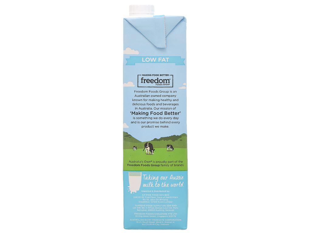 Sữa tươi ít béo Australia's Own hộp 1 lít 6