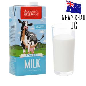 Sữa tươi ít béo Australia's Own hộp 1 lít