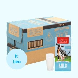 Thùng 12 hộp sữa tươi ít béo Australia's Own 1 lít