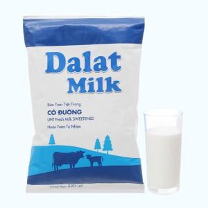 Sữa tươi tiệt trùng có đường Dalat Milk bịch 220ml