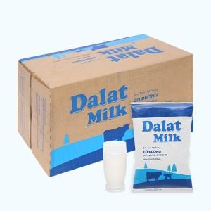 Thùng 48 bịch sữa tươi tiệt trùng có đường Dalat Milk 220ml