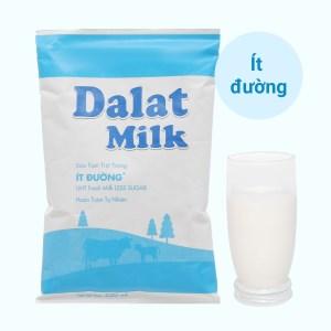 Sữa tươi tiệt trùng ít đường Dalat Milk bịch 220ml