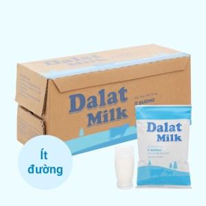 Thùng 48 bịch sữa tươi tiệt trùng ít đường Dalat Milk 220ml