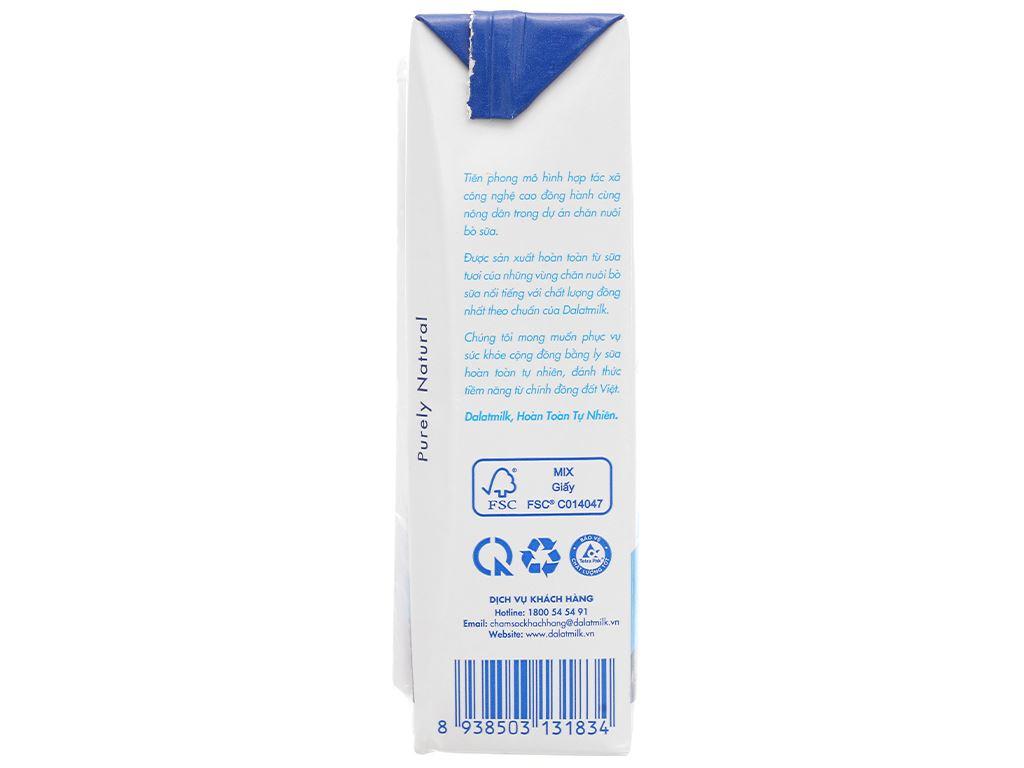 Thùng 48 hộp sữa tươi tiệt trùng có đường Dalat Milk 180ml 5