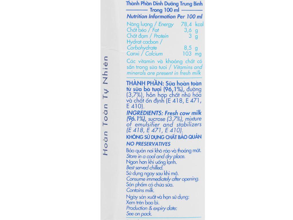 Thùng 48 hộp sữa tươi tiệt trùng có đường Dalat Milk 180ml 6