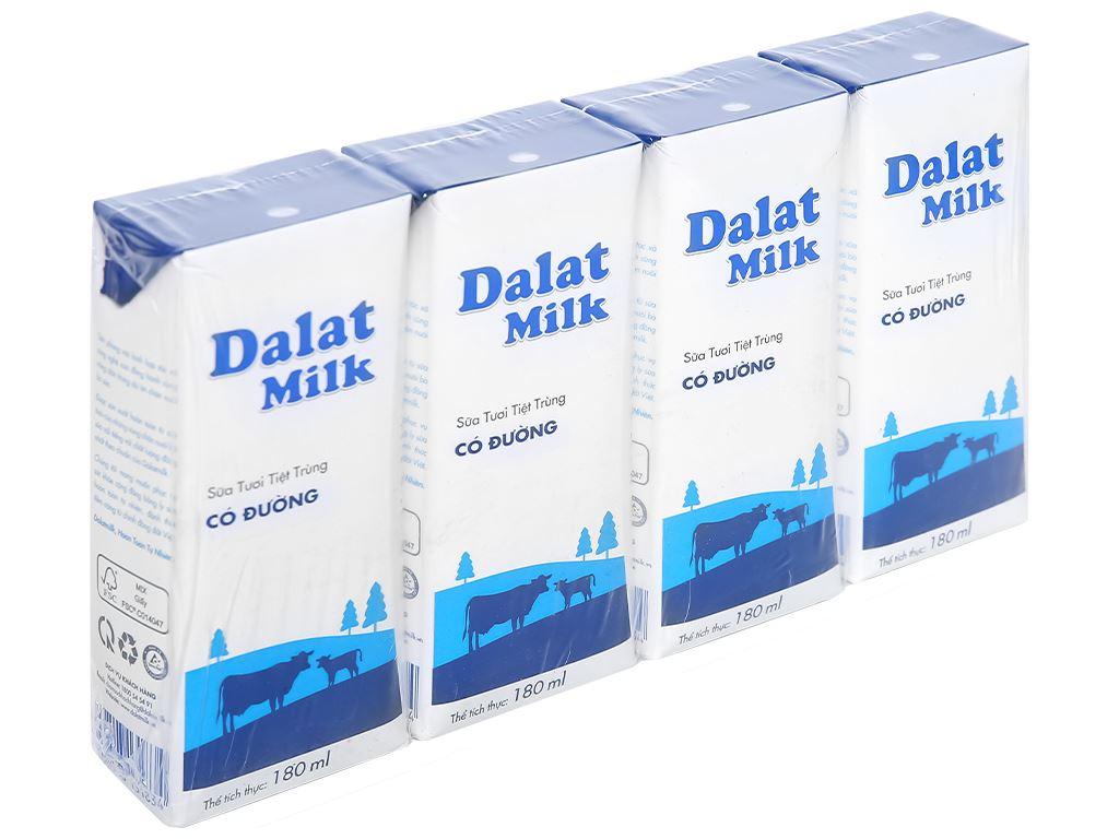 Thùng 48 hộp sữa tươi tiệt trùng có đường Dalat Milk 180ml 2