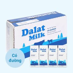 Thùng 48 hộp sữa tươi tiệt trùng có đường Dalat Milk 180ml