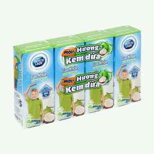 Lốc 4 hộp sữa tiệt trùng hương kem dừa Dutch Lady Cao Khoẻ 170ml