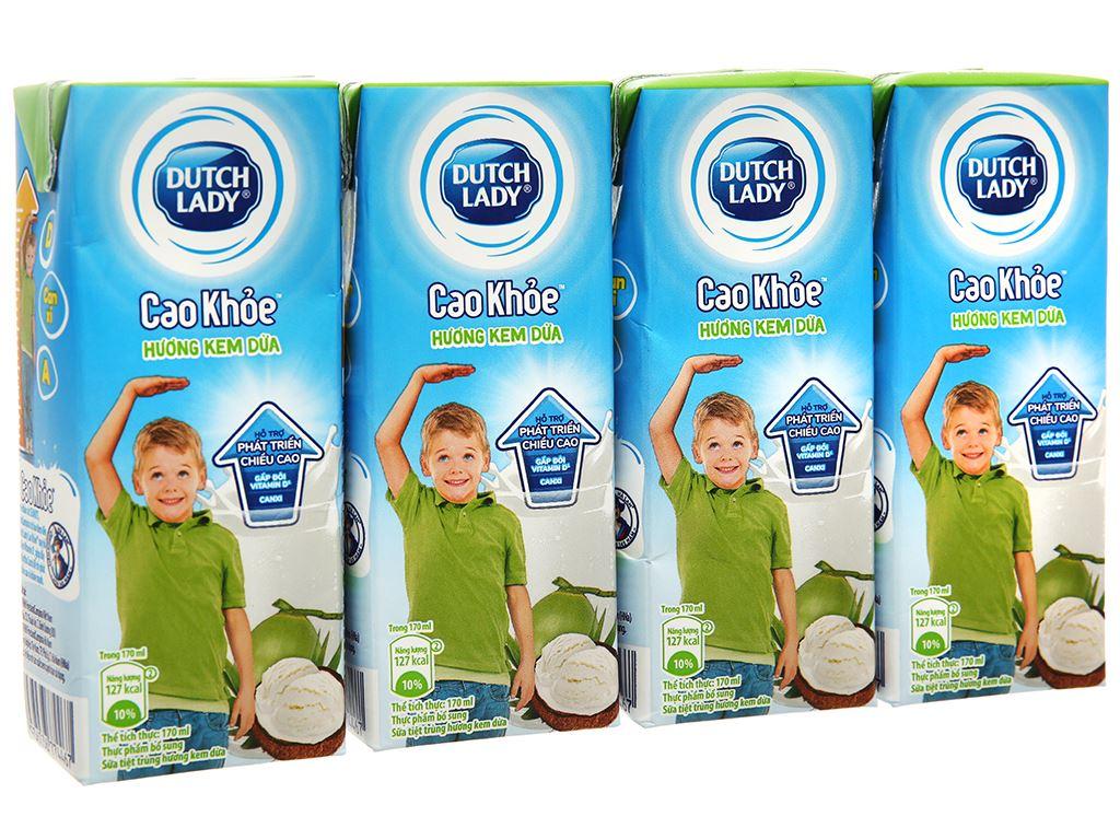Thùng 48 hộp sữa tiệt trùng hương kem dừa Dutch Lady Cao Khoẻ 170ml 1