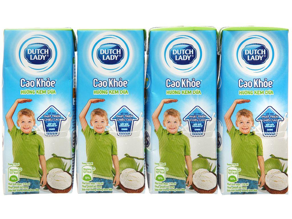 Thùng 48 hộp sữa tiệt trùng hương kem dừa Dutch Lady Cao Khoẻ 170ml 2