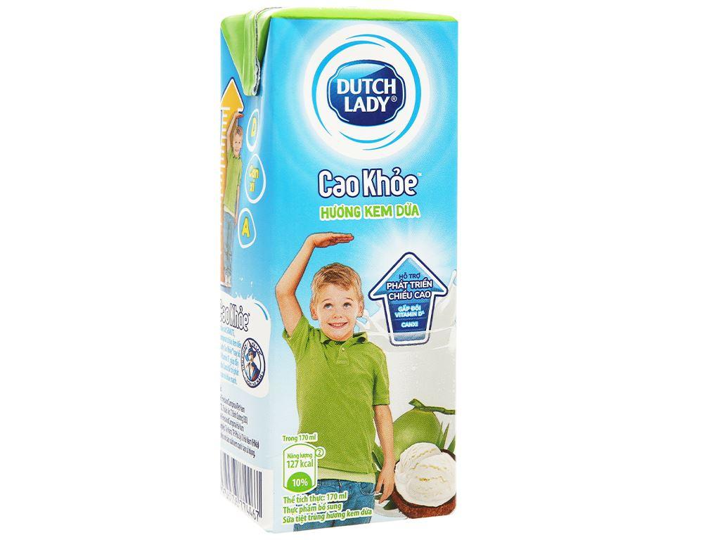 Thùng 48 hộp sữa tiệt trùng hương kem dừa Dutch Lady Cao Khoẻ 170ml 4
