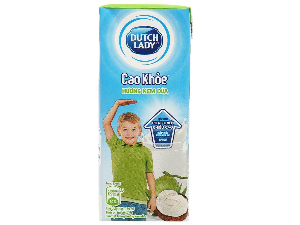 Thùng 48 hộp sữa tiệt trùng hương kem dừa Dutch Lady Cao Khoẻ 170ml 5