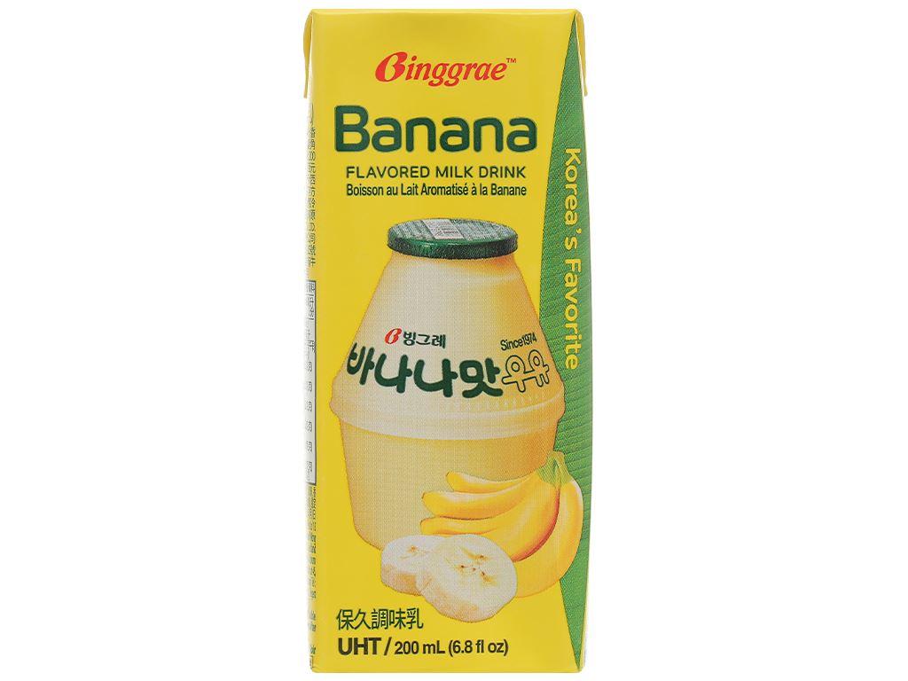 Lốc 6 hộp sữa tươi tiệt trùng hương chuối Binggrae 200ml 3