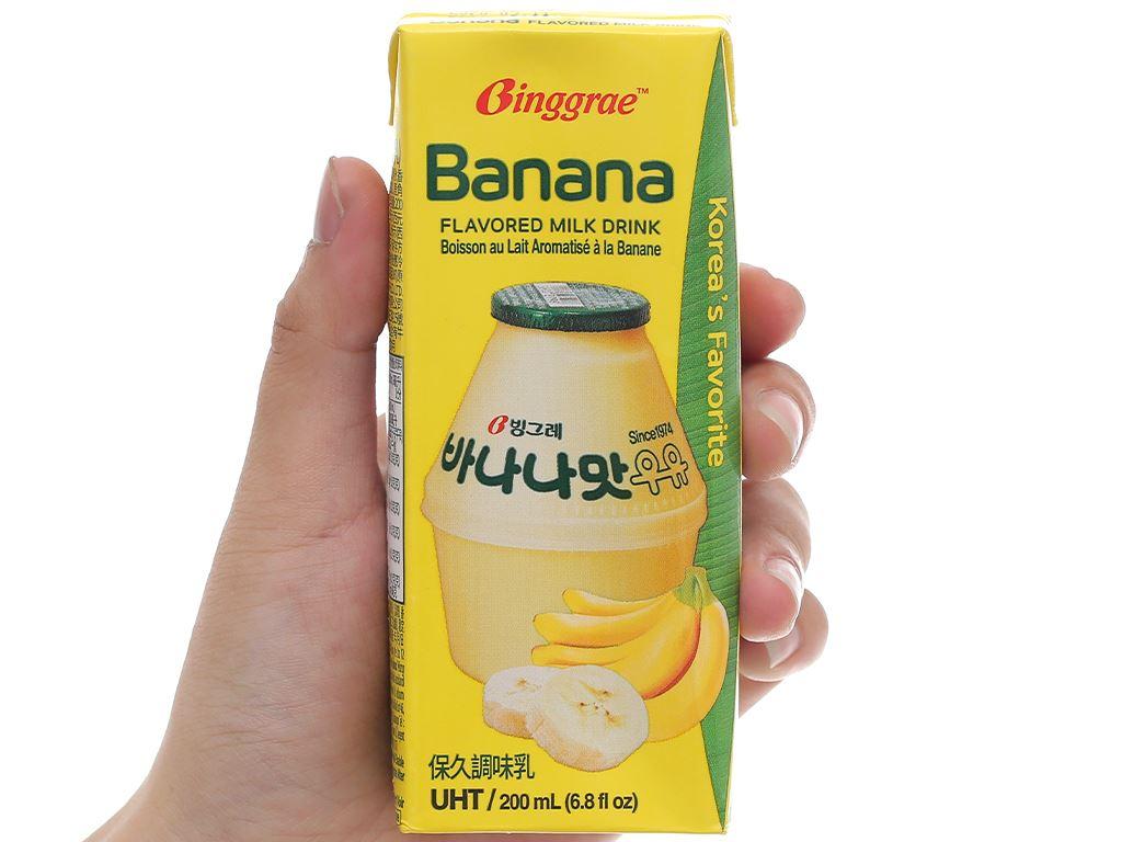 Thùng 24 hộp sữa tươi tiệt trùng hương chuối Binggrae 200ml 7