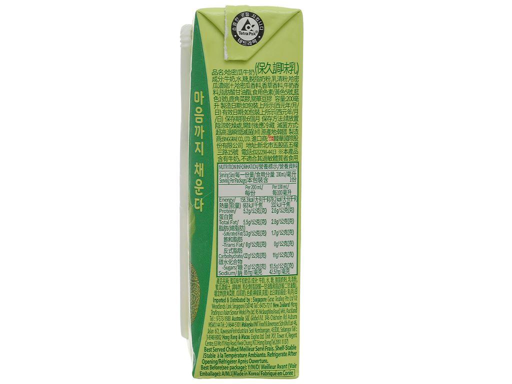 Thùng 24 hộp sữa tươi tiệt trùng hương dưa lưới Binggrae 200ml 4