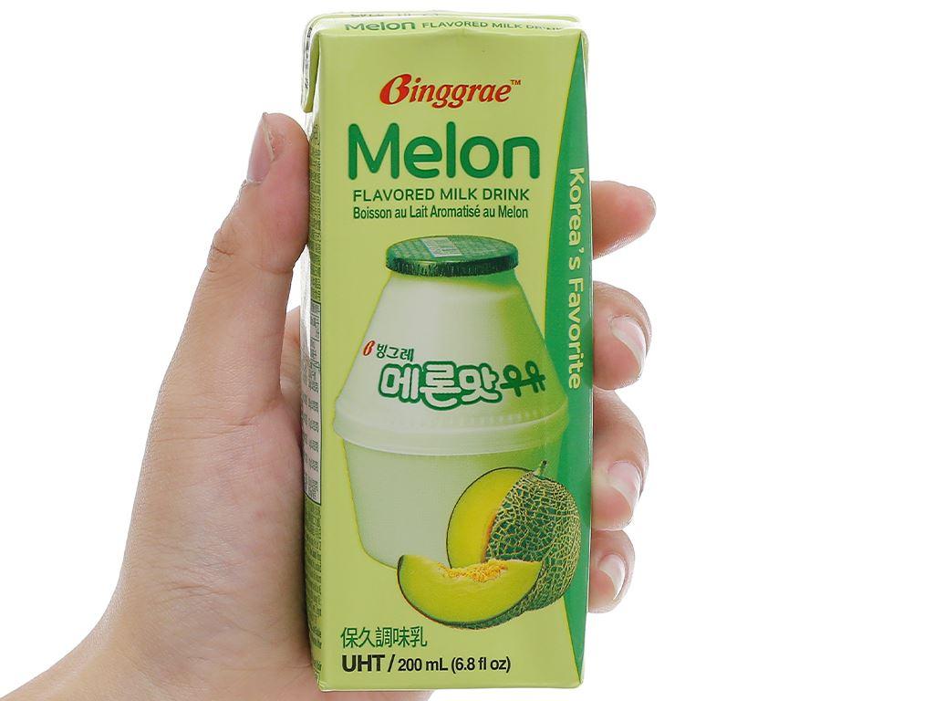 Thùng 24 hộp sữa tươi tiệt trùng hương dưa lưới Binggrae 200ml 7