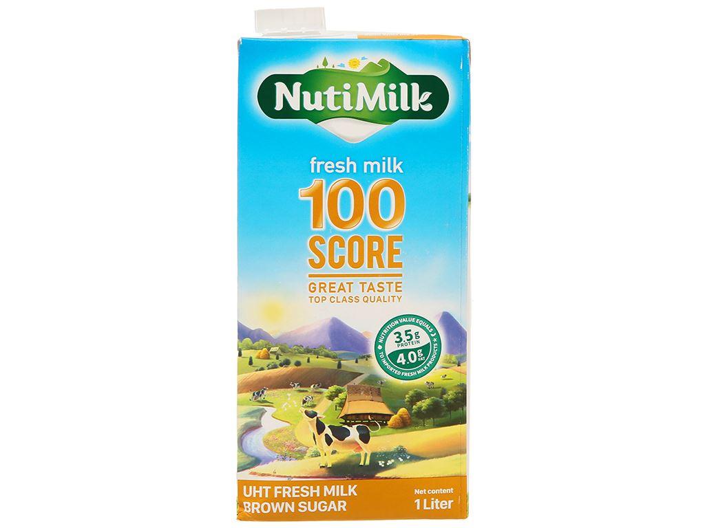 Sữa tươi tiệt trùng đường đen Nutimilk hộp 1 lít 2