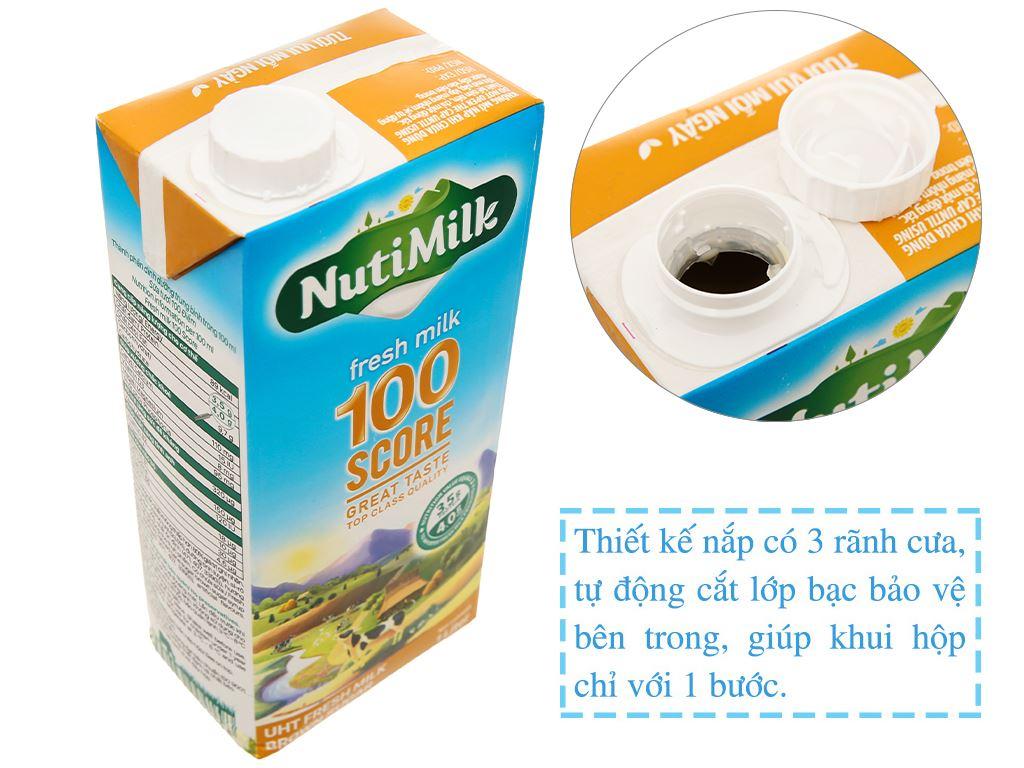 Sữa tươi tiệt trùng đường đen Nutimilk hộp 1 lít 3