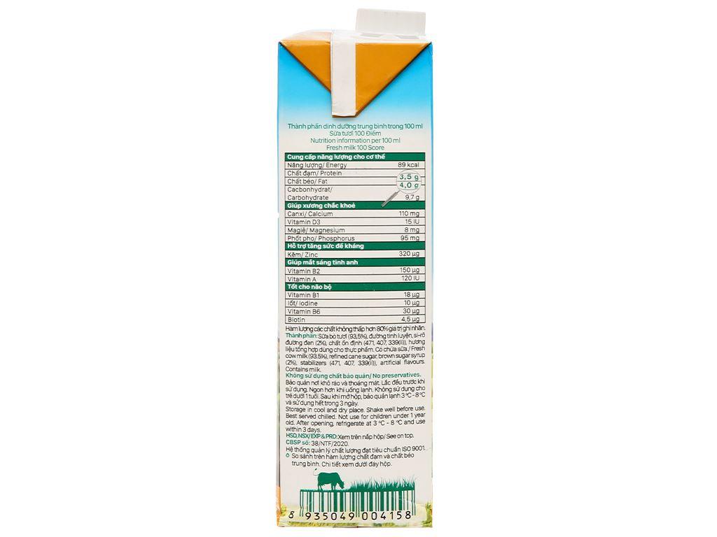 Sữa tươi tiệt trùng đường đen Nutimilk hộp 1 lít 5
