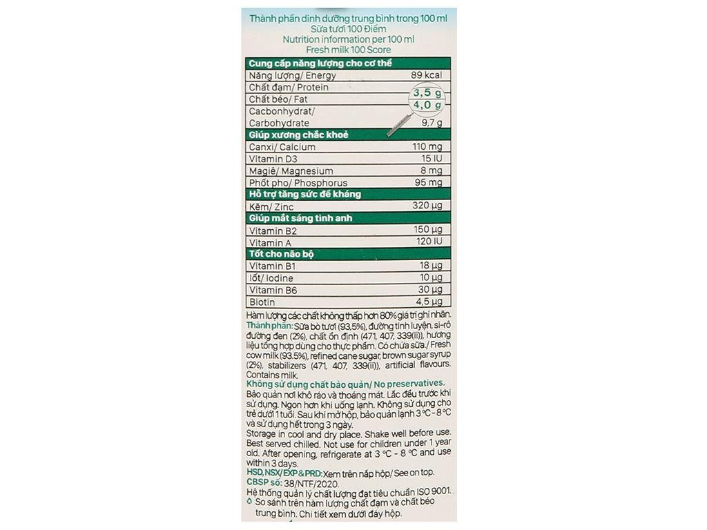 Sữa tươi tiệt trùng đường đen Nutimilk hộp 1 lít 6
