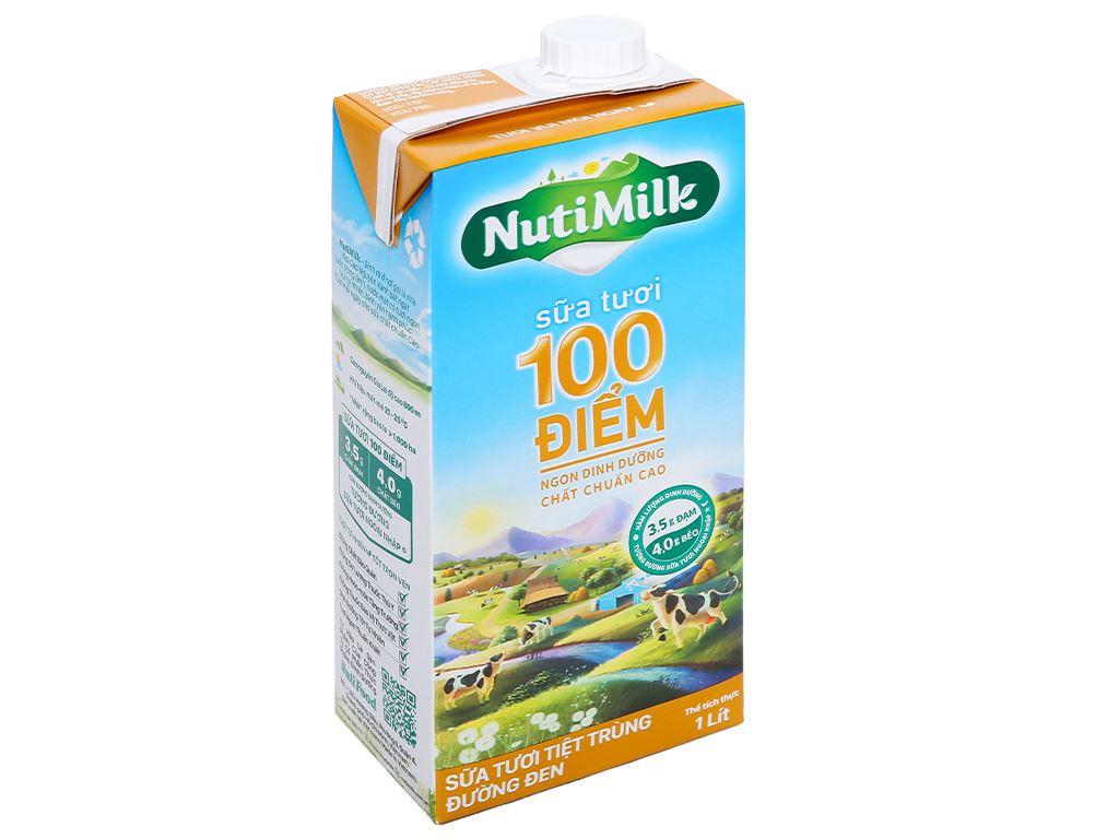 Sữa tươi tiệt trùng đường đen Nutimilk hộp 1 lít 1