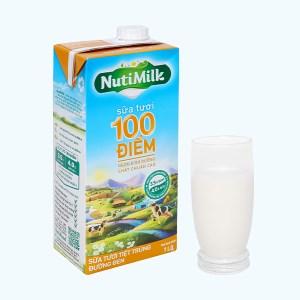 Sữa tươi tiệt trùng đường đen Nutimilk hộp 1 lít