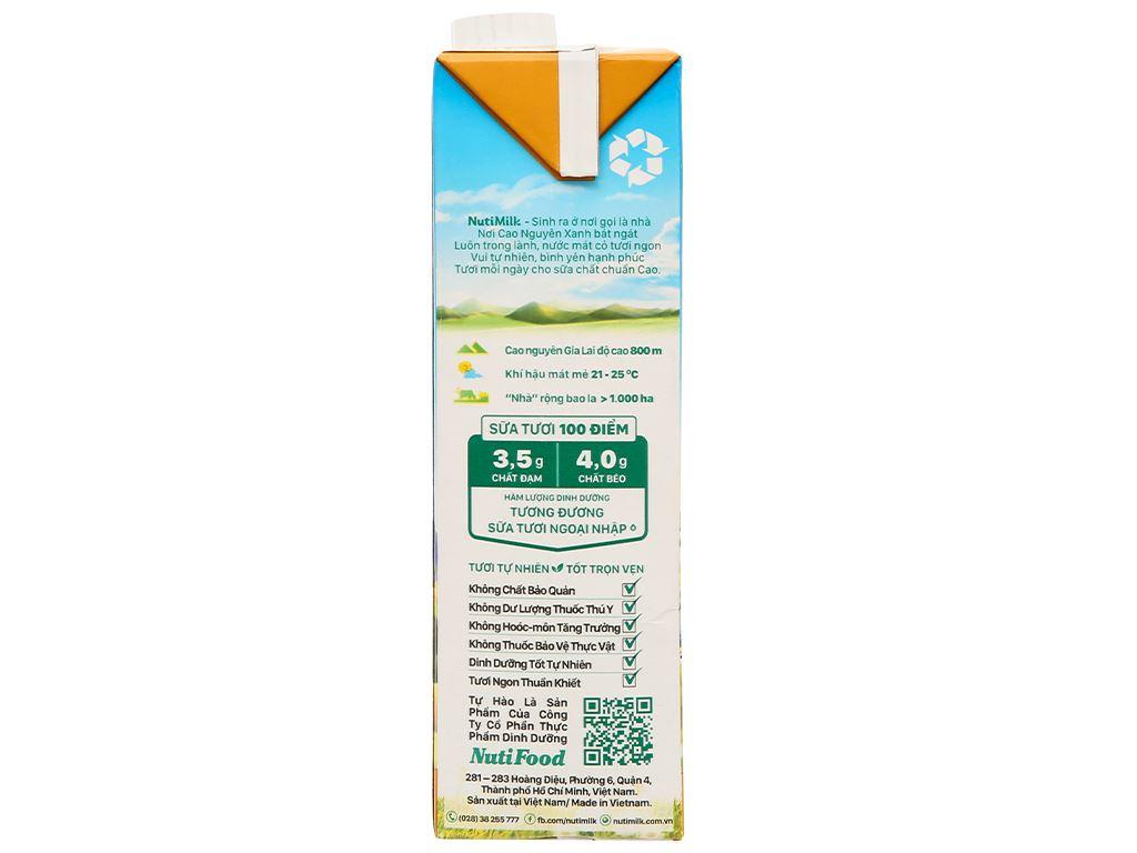 Thùng 12 hộp sữa tươi tiệt trùng đường đen Nutimilk 1 lít 5