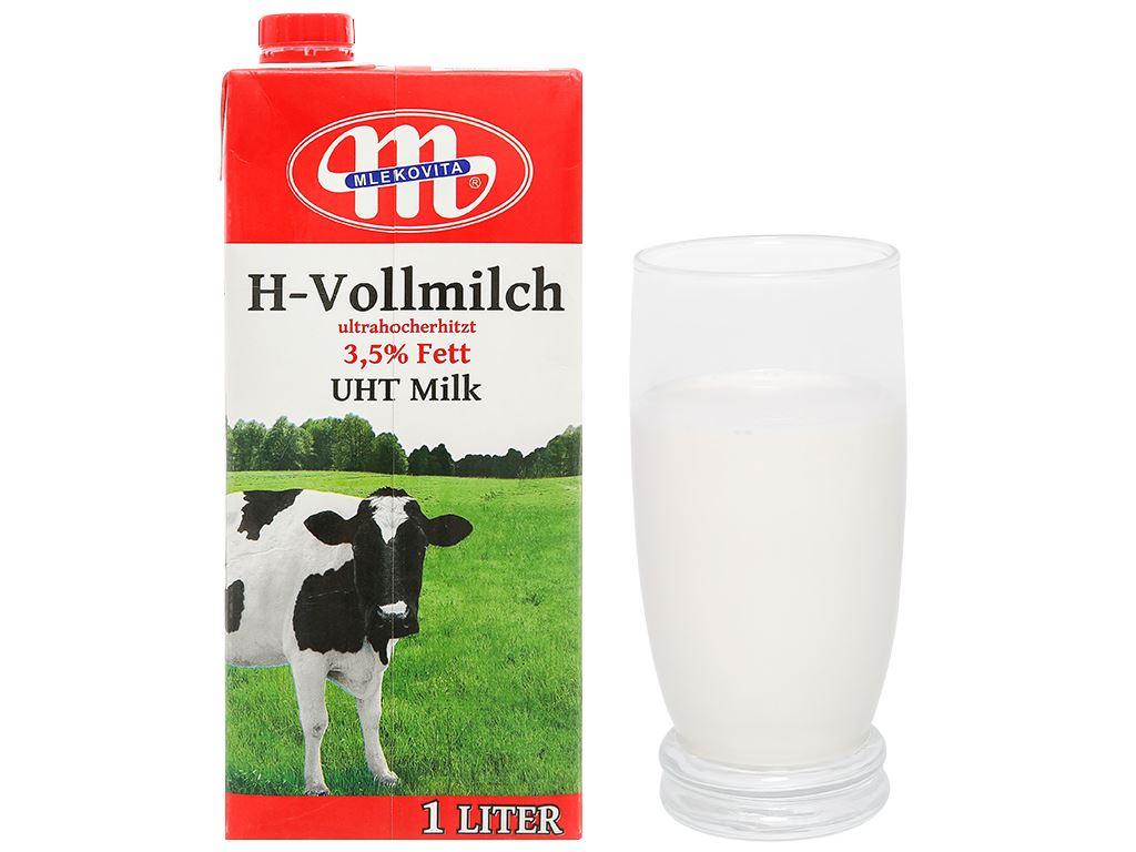 Sữa tươi tiệt trùng Mlekovita hộp 1 lít 8