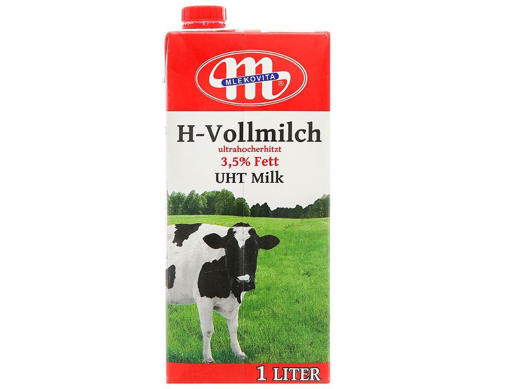 Thùng 12 hộp sữa tươi tiệt trùng Mlekovita 1 lít 3
