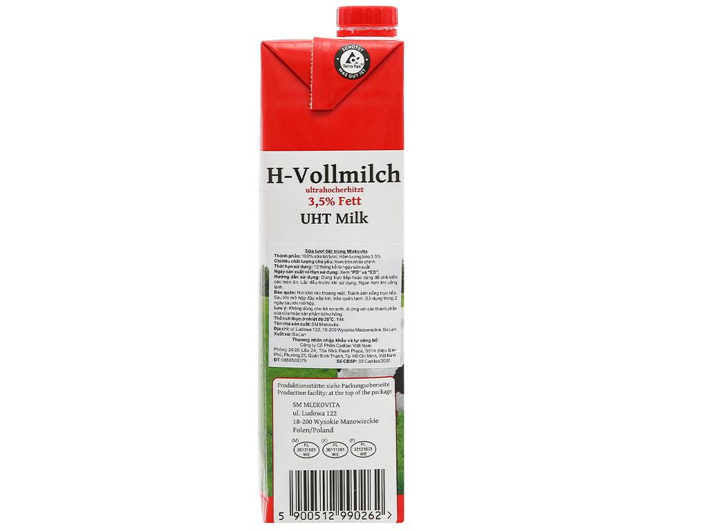 Thùng 12 hộp sữa tươi tiệt trùng Mlekovita 1 lít 5