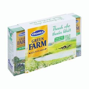Lốc 4 hộp sữa tươi tiệt trùng có đường Vinamilk Green Farm 180ml