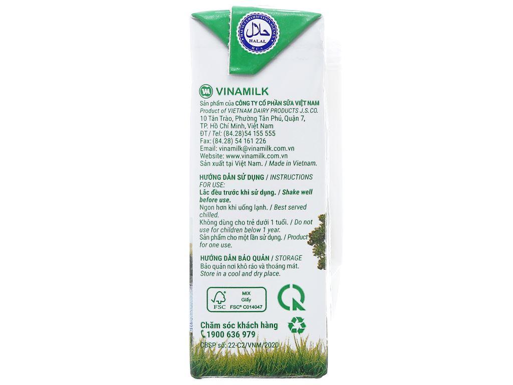 Lốc 4 hộp sữa tươi tiệt trùng có đường Vinamilk Green Farm 110ml 5