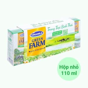 Lốc 4 hộp sữa tươi tiệt trùng có đường Vinamilk Green Farm 110ml
