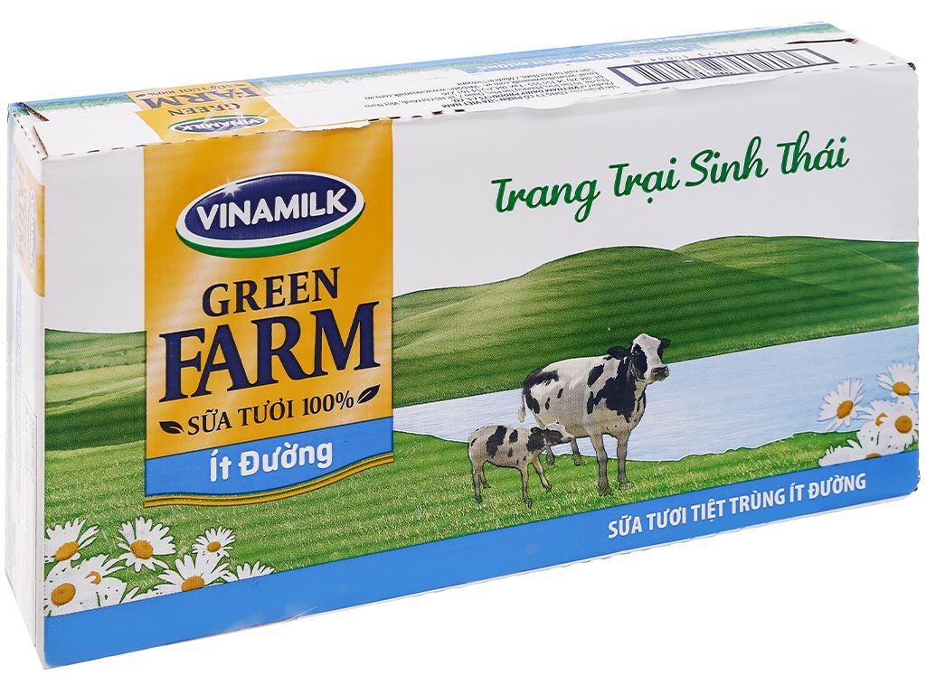 Thùng 48 hộp sữa tươi tiệt trùng ít đường Vinamilk Green Farm 180ml 1