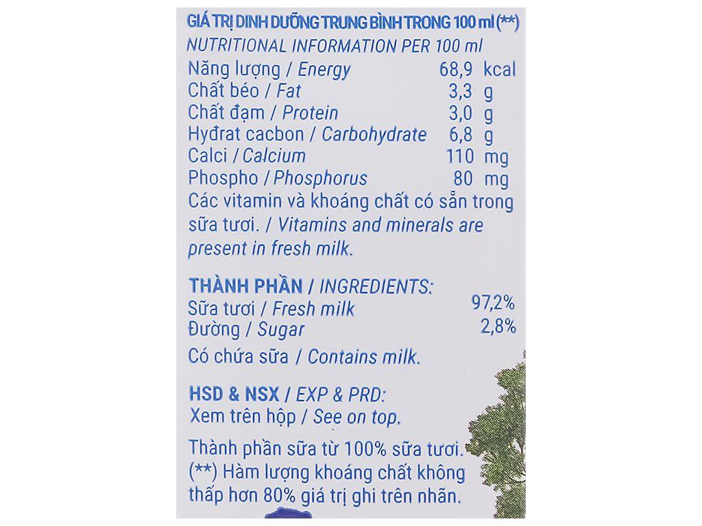 Thùng 48 hộp sữa tươi tiệt trùng ít đường Vinamilk Green Farm 180ml 6